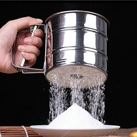 High quality Stainless Steel Sieve Cup Powder Flour Mesh Sieve Baking Tools For Cakes Decorating Pastry Tools Bakeware