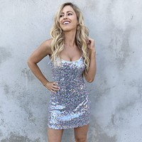 Perfect Celebration Pastel Sequin Bodycon Dress