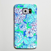 Blue White Floral Turquoise Galaxy S8 Plus Case Galaxy S7 Case Samsung Galaxy Note 5  Phone Case s6-138
