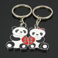 Keyfob Keyring Ring Panda Keychain Couple Lover Gift Valentine's Day = 1929732484