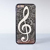 Musical Note Mandala Plastic Case Cover for Apple iPhone 6 6 Plus 4 4s 5 5s 5c