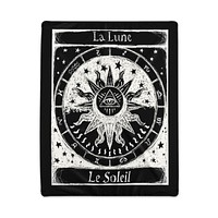 Sun and Moon Zodiac Polyester Blanket