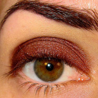 Illicit Eyeshadow Mineral makeup Eye shadow Eyeliner (Dark Coppery Brown with duochrome two-tone shifting red shimmer (5g)