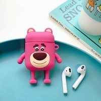 Strawberry Bear Protective Airpod Case
