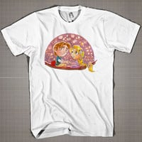 Disney Tangled Commission  Mens and Women T-Shirt Available Color Black And White