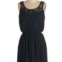 ModCloth Mid-length Sleeveless A-line Cupcake Competition Dress in Black