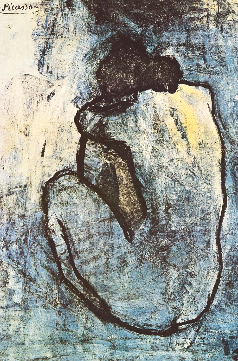 Image of Pablo Picasso Blue Nude Art Poster 24x36