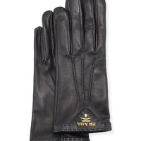 Napa Leather Gloves, Black, Size: