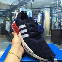 Best Online Sale Adidas Originals NMD R1 Blue Boost Sport Running Shoes Classic Casual Shoes Sneakers