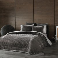 Kevin O'Brien Cirrus Coverlet Pillow Sham in Pewter