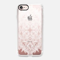 Vintage Winter Snow Doodle on Transparent iPhone 7 Case by Micklyn Le Feuvre | Casetify