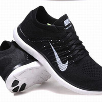 """""""NIKE"""" Net surface breathable sneaker soft-soled running casual shoes Black"""