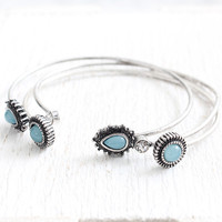 Etched Bracelet & Earring Set