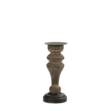 Candle Holders Antique Style Wooden Column Candleholder