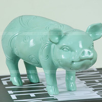 Faux pig statue, faux taxidermy, pig, animal, home decor, faux animal, faux taxidermied, christmas, new year, holiday gift