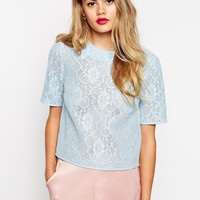 ASOS Bonded Lace Tee
