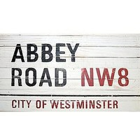 antiqued 'abbey road' sign by box brownie trading   notonthehighstreet.com