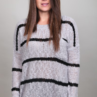 Hooked On You Sweater {Gray/Blk}
