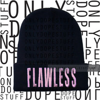 Flawless Beanie Beyonce Embroidered Yonce I Woke Up Like This Watermelon Queen Bey Unisex Wear with Flawless Sweatshirt On the Run Tour