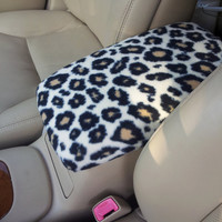 Center Console Cover CHEETAH Print for Toyota CAMRY 2006 to 2011 CC17 Lid Cover