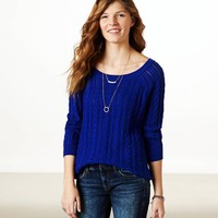 AE REAL SOFT COOL CABLE SWEATER
