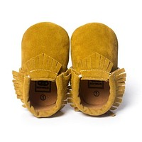 Leather Newborn Baby Moccasins Shoes