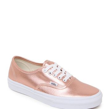 Vans Authentic Leather Rose Sneakers