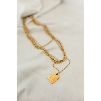 18K Body Language Layered Necklace