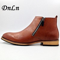 Size 38-43 Autumn Men'S Boots 2017 New Timber Boots Leather Mens Dress Boots Male Ankle Boots D30