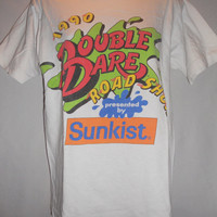 Vintage 1990 90s Double Dare Road Show Shirt Sponsored by Sunkist