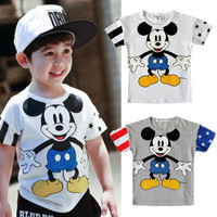 2015 Cartoon Baby Boys Girls Clothing Tops T-Shirts Children Clothes 2 3 4 5 6 7Y