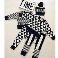 2017 Spring Autumn Kids Clothes Brand Children Sets Sweaters Pants For Baby Boys Girls Tiny Cotton Huxbaby Sweater Knit Shirts