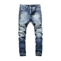 Men Jeans  Washed Printed Jeans