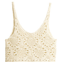 Crocheted top - from H&M