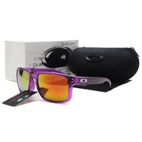 Summer Oakley AUthentic Sunglasses Frogskins Purple Yellow