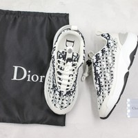 White Dior Oblique B24 Sneaker With Cannage Motif Sneakers - Best Deal Online