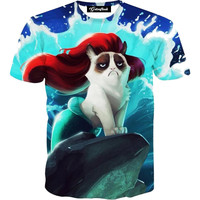Grumpy Cat Mermaid Tee