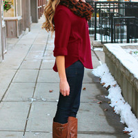 Red My Mind Blouse