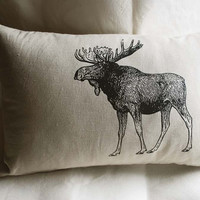 Canadian Moose Pillow by SparrowAvenue on Etsy