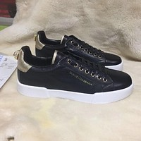 D & G Dolce & Gabbana Men's Leather Fashion Sneakers Shoes #189