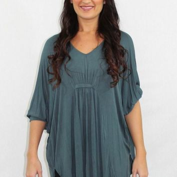 Just in Time Blue Tunic