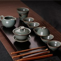 10pc set Longquan Celadon Tea Set