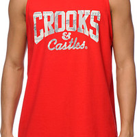 Crooks and Castles Currency Core Logo Red Tank Top