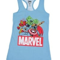 Marvels Heroes Avengers Female Racer Back Tank-Top Small