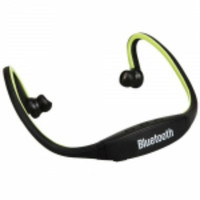 Sport Headset Headphone with Bluetooth Function Green