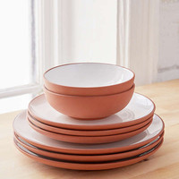 12-Piece Terracotta Dinnerware Set | Urban Outfitters
