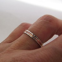 Set of 3 Super Skinny Stacking Rings by Sirrý Design