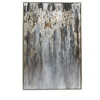 Abstract Silver Painting