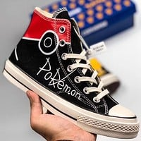 Trendsetter Converse X Pokemon  Women Men Fashion Casual High-Top Canvas Shoes