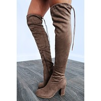 To The Point Boots: Taupe